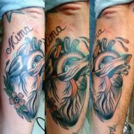 cuore anatomico tatoo